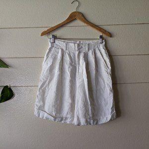Linen Shorts Cream High Waist